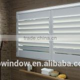 Horizontal Opening Pattern and PVC Material basswood plantation shutters