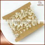 Hot sale 9mm heart shape ABS pearl chain for party wedding decoration