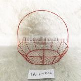 metal chicken wire basket for storage with handle