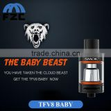 Black Silver Colors Popular Products 3ml Capacity Top Filling Tank Atomizer Authentic TFV8 Baby With Airflow Control