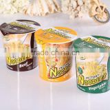 Private Label Bag quick Instant Noodles Soup / OEM Cup Instant Noodles Ramen / Halal Instant Food