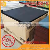 high quality cheap 1000*1000*15mm anti slip natural rubber floor mat for baby protection