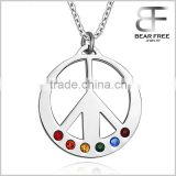 Unisex Stainless Steel Gay Lesbian LGBT 35MM Silver Pendant Necklace For Couples
