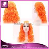 wholesale High quality heat resistant 100% fiber lace front wig synthetic hair