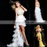 Suzhou Modern Vintage Layered Beaded Short Front And Back Long Cocktail Dress Ball Gowns k53-3835
