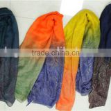 Polyester Printed scaves gradient colors in stock scarves