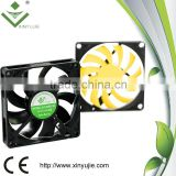 xinyujie 80*80*15mm 12/24v dc electric motors 24 volt 12v dc air conditioner dc cooling fan
