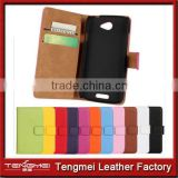 NEW Luxury Genuine PU Leather Flip Wallet stand style phone case cover for htc desire 620