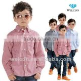 latest fashion design brand new 100% cotton children clothing children dress children shirt for boy