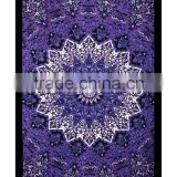 Psychedelic Star Mandala Tapestry Wall Hanging Bed sheet Twin Bedspread Indian Manufacturing Wholesale Tapestry Supplier