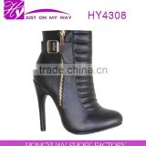 Sexy ladies pointed toe ankle boots for ladies winter boot shoes