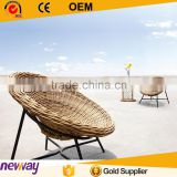 2015 brown color synthetic wicker egg shape Leisure rattan outdoor beach chair