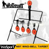 WoSporT WST wind-bell shooting target outdoor & indoor durable harmless steel archery airsoft gun BB bullet target for tranning