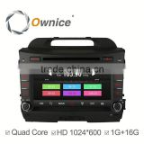 Ownice C300 quad core navigation car GPS for Kia Sportage R support Bluetooth stereo steering wheel control