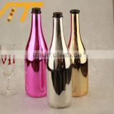 INQUIRY about wholesale best quality electroplate lovely bottle 750ml paint matter black bottles champagne bottles cork