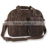 Vintage rugged leather briefcase