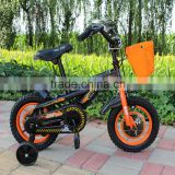popular design bmx children bike black color steel frame kids bicycle with training wheel steel rim bmx handle bar