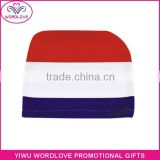 custom polyester&spandex printed elastic Holland flag car headrest cover,Netherland car headrest flag for fans