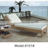 Hot sale Hotel outdoor swimming pool sun lounger chair with drink table