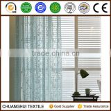 leaf embroidered sheer voile curtain fabric