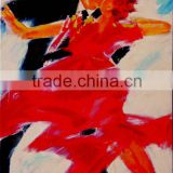 High Skills Artist Hand-painted, Abstract Spanish Flamenco Dancer Oil Painting On Canvas Spanish Flamenco Dance Oil Paintings
