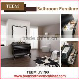 Teem home bathroom furniture Bathroom vanitues wood doors vanity bathroom cabinet glass basin cabinet
