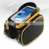 ROCKBROS Bike Bicycle Ride Frame Front Head Top Tube Bag&Double IPouch Cycling saddle Pannier For Cell Phone Smartphone Case