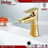 famous hotel gold color water tap, lavatory brass toilet faucet, good gold plated artistic wash basin mixer tap