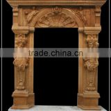 Cheapest Limestone Door Surround With Statues