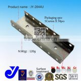 JY-2044U|Forged roller track metal joint|U-shaped slide rail connector|Chrome plated hardware fitting
