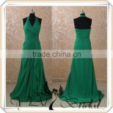 RSE77 Halter Neckline Emerald Green Chiffon Bridesmaid Dress Patterns
