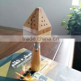 hot selling factory price mini click wooden incense burner with lighter