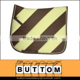 Horse saddle pad with fashion color polyester horse saddle pad contoured wither contrasting piping foam backing superior quality