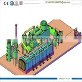 waste plastic and rubber and waste oil refining 40-60 tpd fully continuous pyrolysis plant