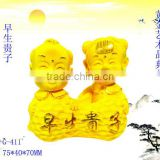 24k gold plated love baby Figurines decoration