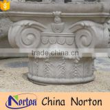 architectural marble carved flower design greek pillar caps NTMF-CP019Y