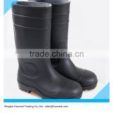 "SZ 5 6 TO 12 13 14 PVC Safety With Steel Toes Men's 16"" Black Rubber Rain Boots Work & Safety Shoes Acidproof Alkaliproof Plain"