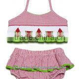 Infant/Toddler Girl Red Smocked Baby Red Watermelon - Bikini