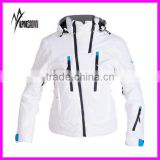 2017 Newest Outdoor Winter women white ski jackets/ladies white ski jacket/ski parkas for women