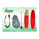 Fiberglass Double Concave bamboo paddle board longboards for girls surfing