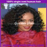Top quality Afro Kinky Curl Celebrity Wigs Mongolian Virgin Hair