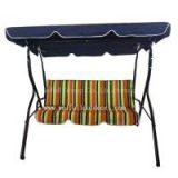 Modern Furniture Patio Swing With Canopy, Double Chair Swing, Outdoor Double Swing Chair