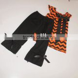 New Arrival Kids Fancy Halloween Costumes Chevron Shirt w Pants Halloween Custume Baby Girl/boys Outfits Set
