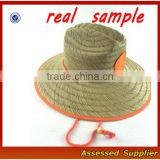 TZAT02/Custom Hot Style Australia Men's Brands Outdoor Straw Surf Hat Lifeguard Straw Hat for Wholesale
