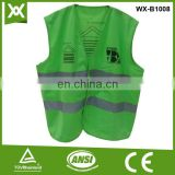 factory / suppliers polyester fabric class2 tape made fluo green hi vis vest