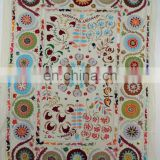 Wholesale New Design White Base suzani hand Embroidered Wall Hanging Tapestry