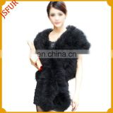 2016 newest stylish beautiful lady's real tukey fur vest