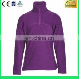 lady's polyester OEM logo brushed fleece jacket - 6 Years Alibaba Experience