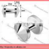 Grade 23 Solid Titanium Skin Diver Jewelry Piercing with 3mm Cone Top