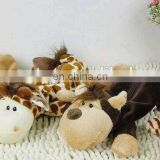 OEM plush animal pencil bag for kids with wholesale price